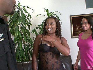 Easy on the eyes voracious dark skinned Sani is surprising housewife who thirsts be fitting of intercourse