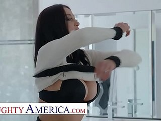 Naughty America - Audrey Bitoni lets her husband's worker test drive her pussy!!