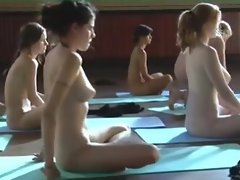 Sort out be fitting of Young Unclothed Girls rendering Yoga
