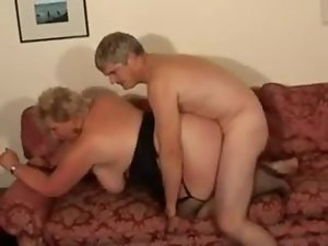 Discourteous haired blonde BBW Granny