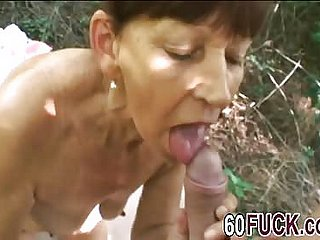 Granny Brunette Banged At the end of one's tether Young Dong Out like a light
